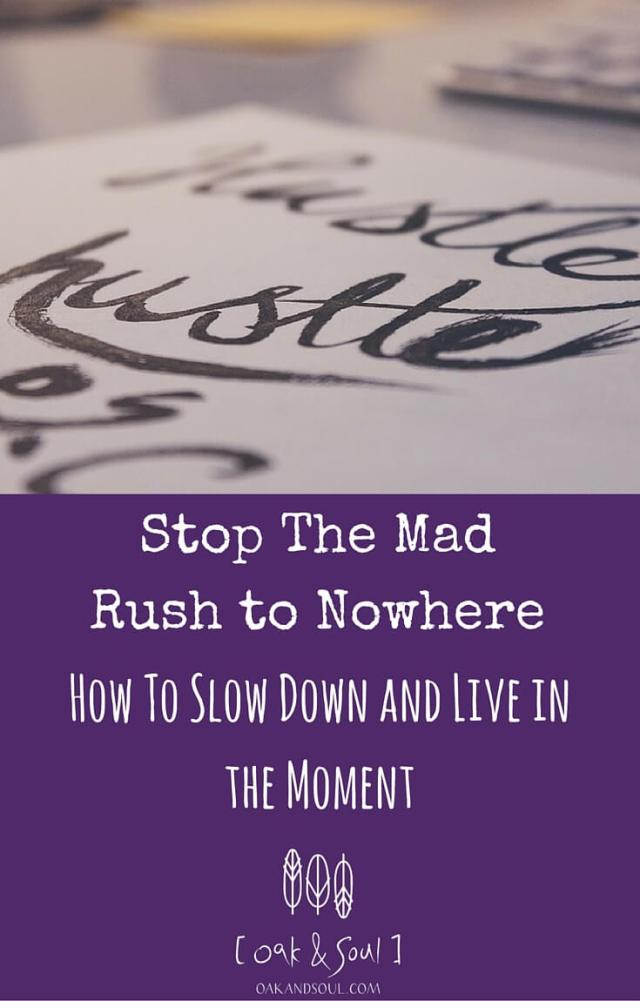 Stop the Mad Rush to Nowhere